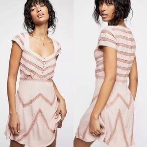 Free People Elle Mini Dress in Toasted Mink